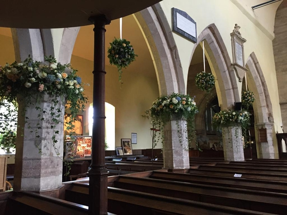 Amazing flowers in Hanbury Church